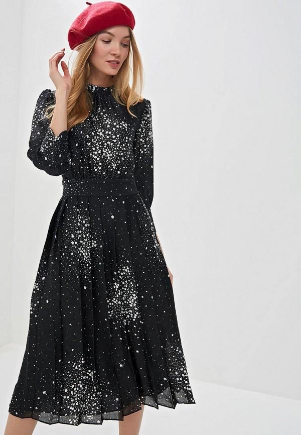 женское повседневные платье marks & spencer, черное