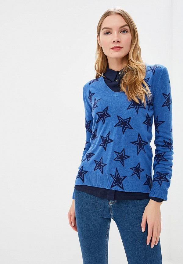 женский пуловер marks & spencer, синий
