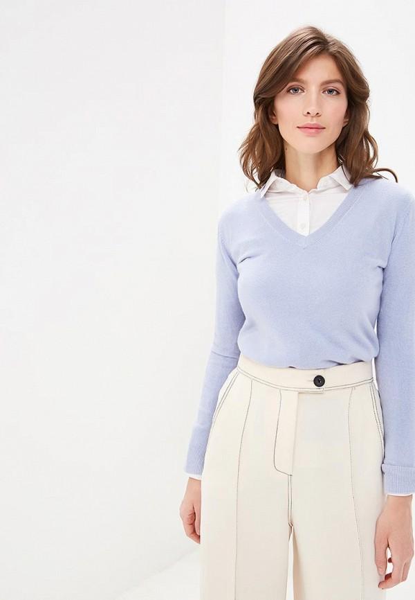 женский пуловер marks & spencer, голубой