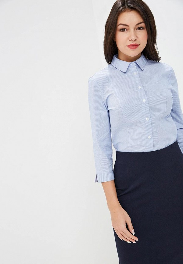 женская рубашка marks & spencer, голубая