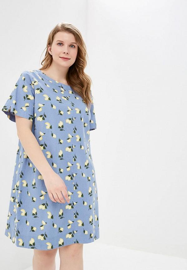 женское повседневные платье marks & spencer, голубое