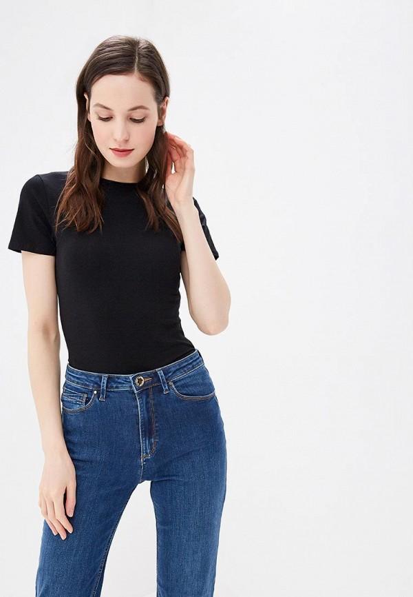 женская футболка marks & spencer, черная