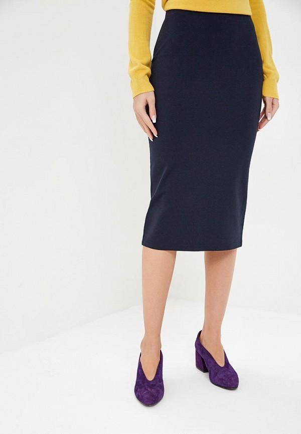 женская прямые юбка marks & spencer, синяя
