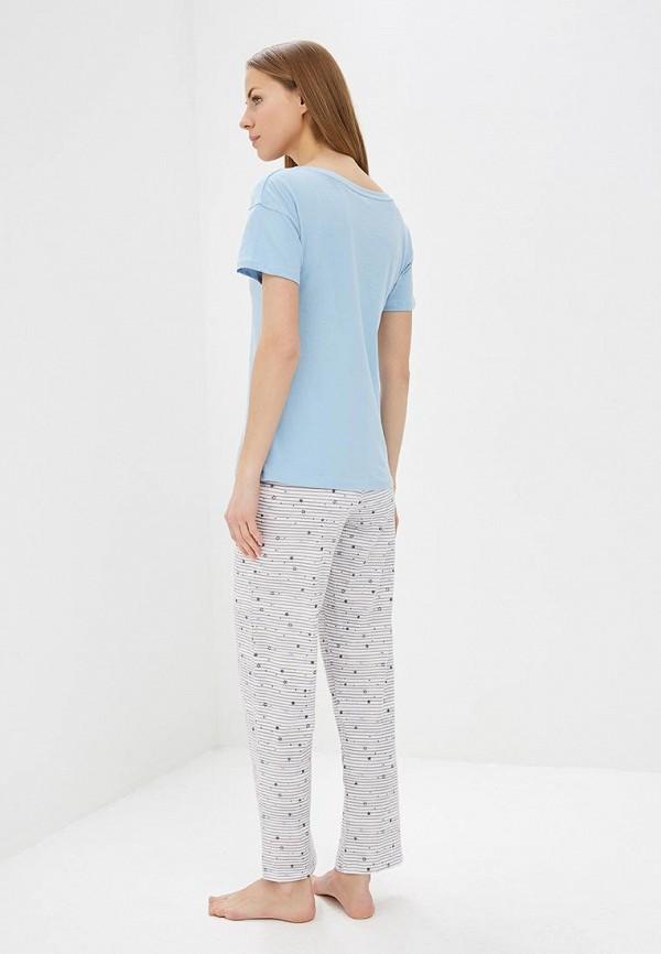 Фото 3 - Пижама Marks & Spencer разноцветного цвета