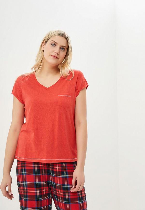 женская футболка marks & spencer, красная