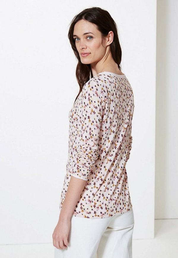 Фото 2 - Блузу Marks & Spencer белого цвета
