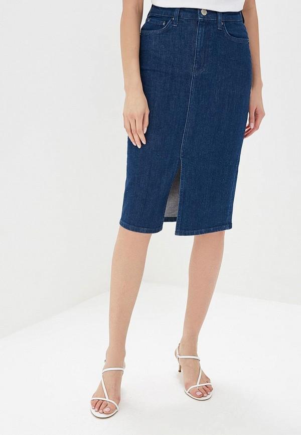женская джинсовые юбка marks & spencer, синяя