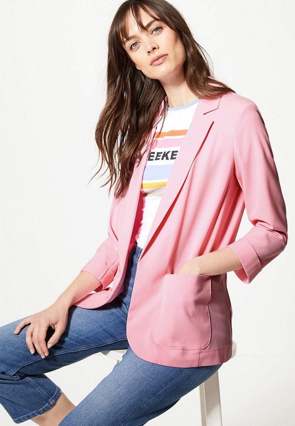 женский пиджак marks & spencer, розовый