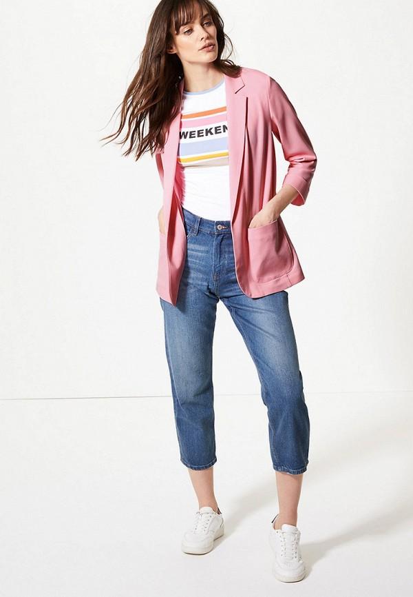 Фото 2 - Пиджак Marks & Spencer розового цвета