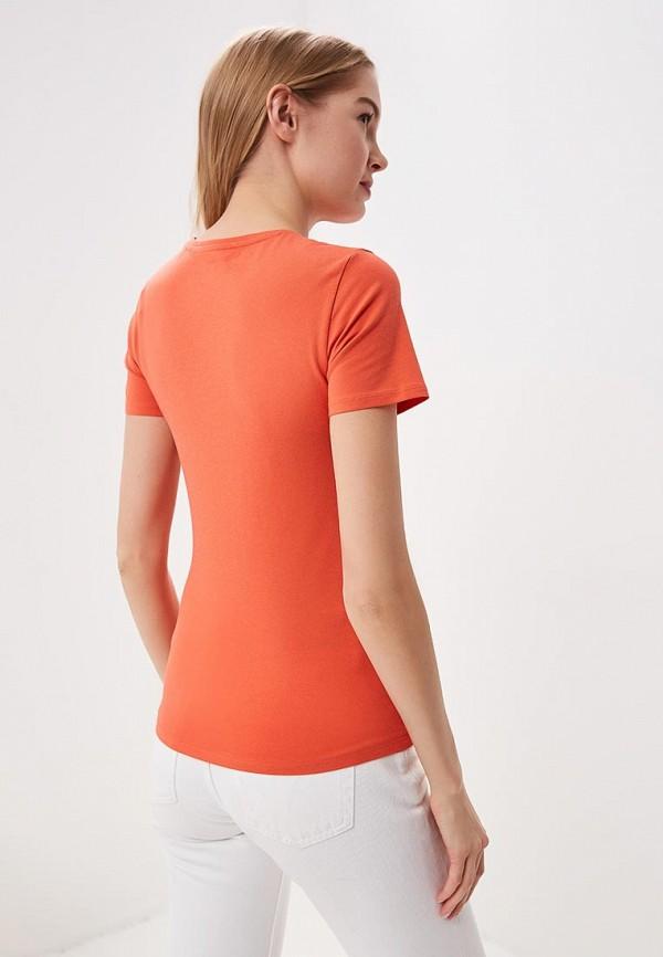 Фото 3 - Футболку Marks & Spencer оранжевого цвета