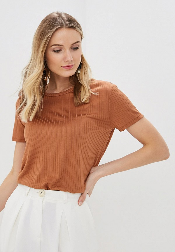 женская футболка marks & spencer, коричневая