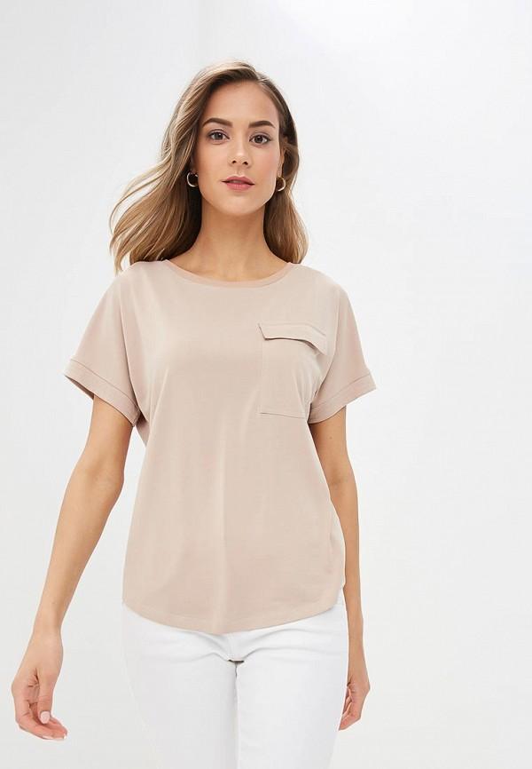 женская футболка marks & spencer, бежевая