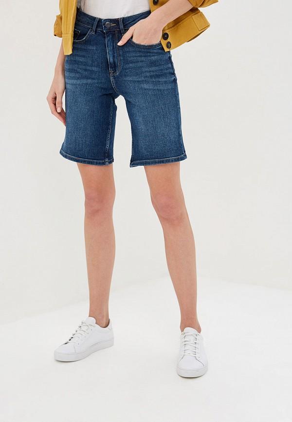 женские джинсовые шорты marks & spencer, синие