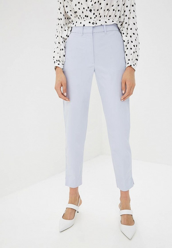 женские повседневные брюки marks & spencer, голубые