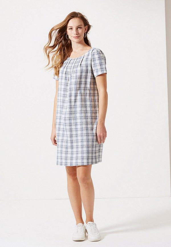 женское повседневные платье marks & spencer, серое