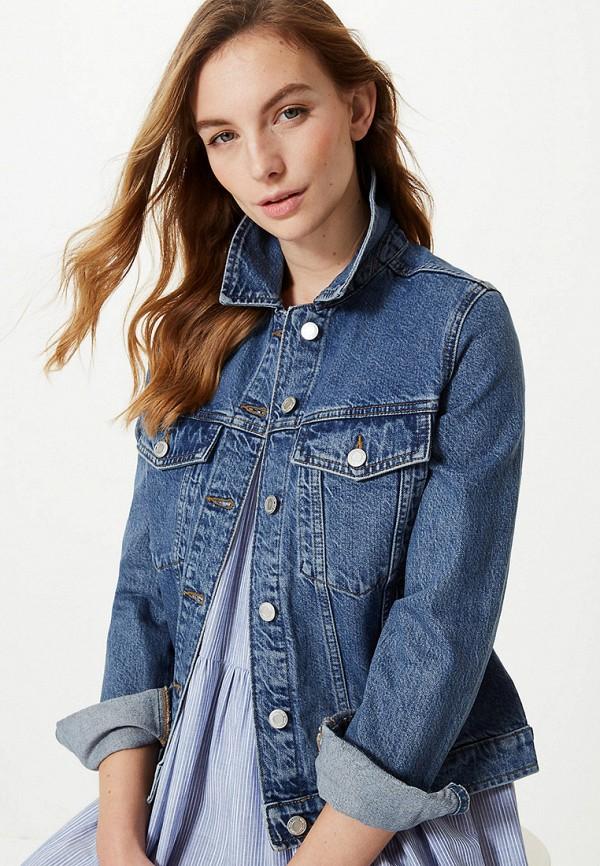женская джинсовые куртка marks & spencer, синяя