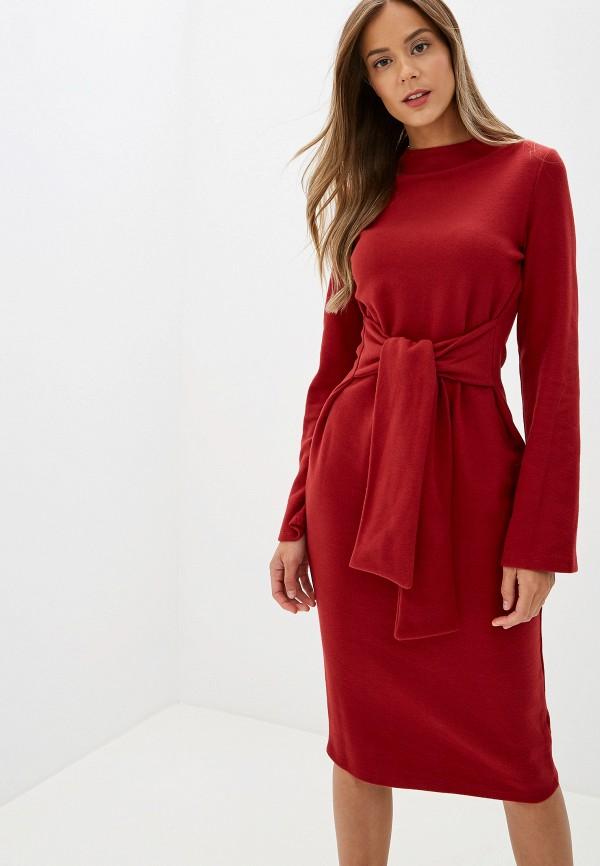 женское повседневные платье marks & spencer, красное