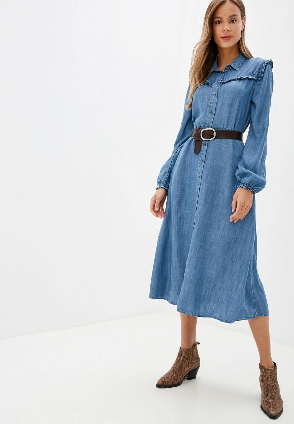 женское джинсовые платье marks & spencer, синее