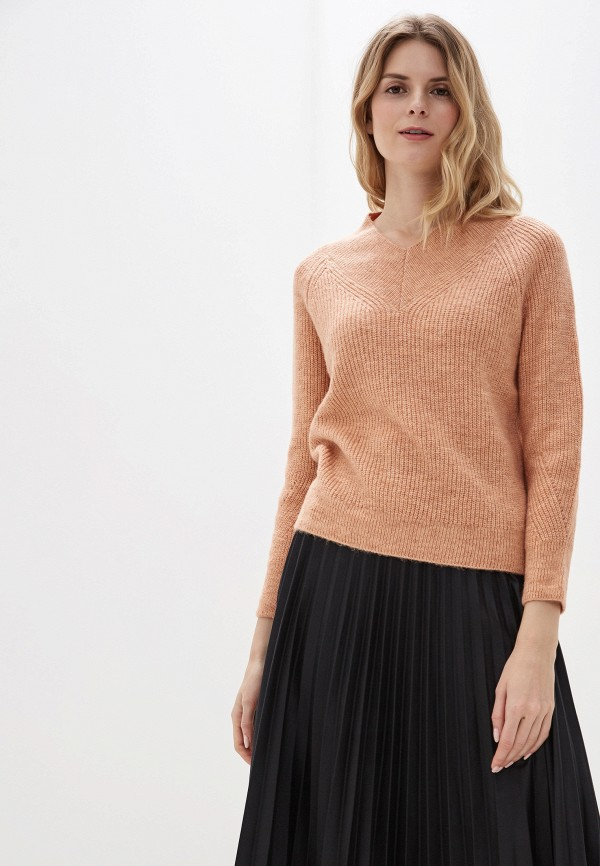 женский пуловер marks & spencer, оранжевый