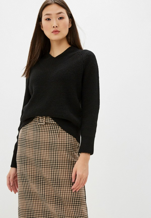 женский пуловер marks & spencer, черный