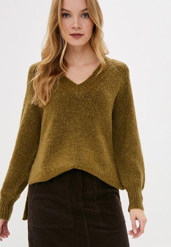 женский пуловер marks & spencer, хаки