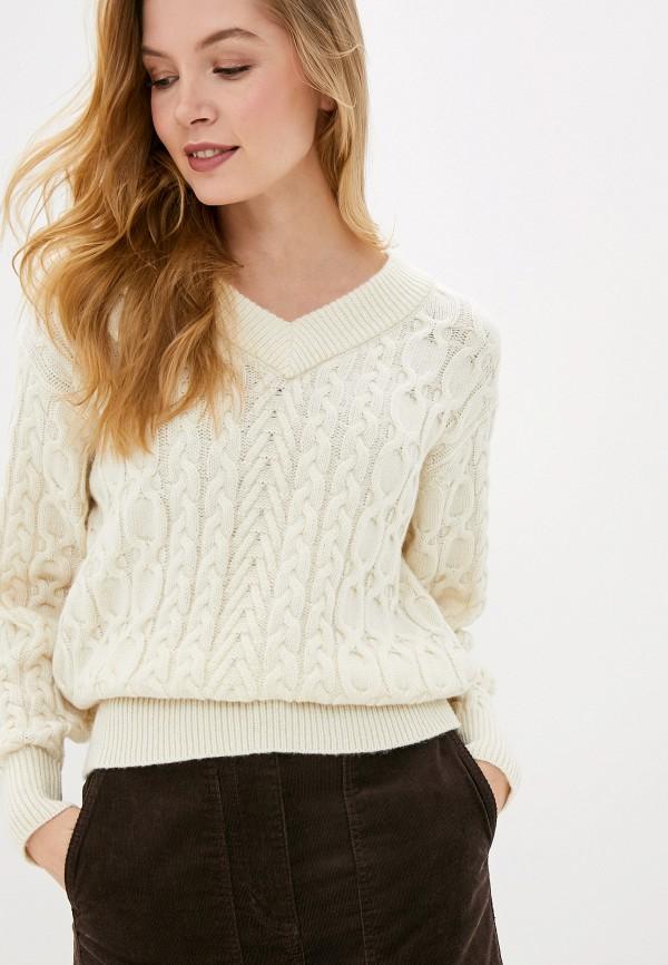 женский пуловер marks & spencer, бежевый