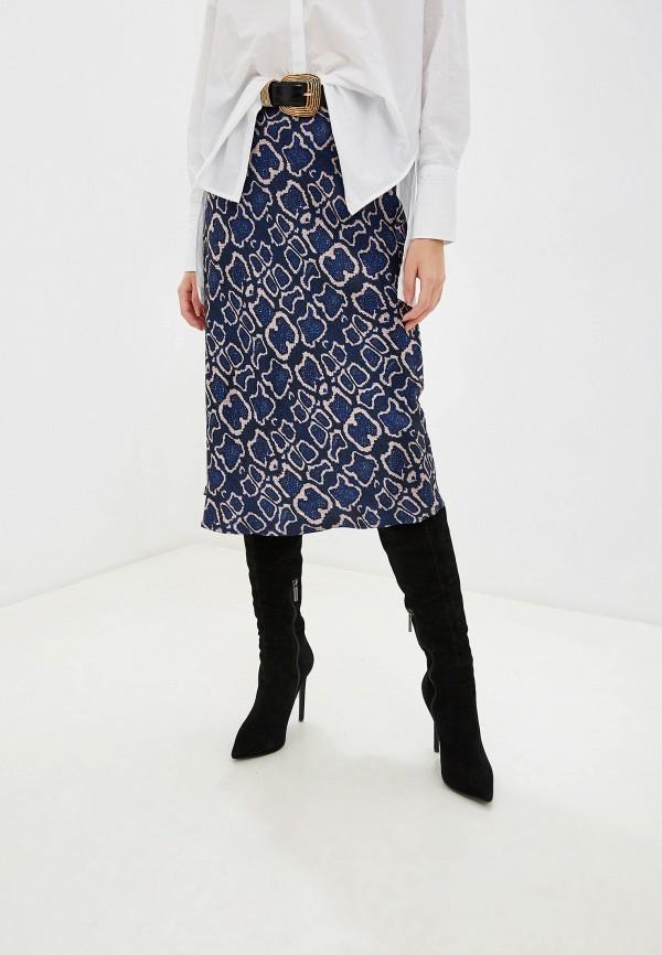 женская юбка marks & spencer, синяя