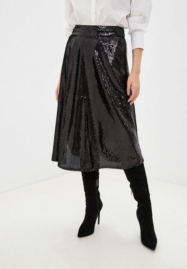 женская юбка marks & spencer, черная