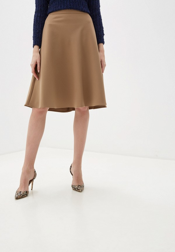 женская юбка marks & spencer, бежевая