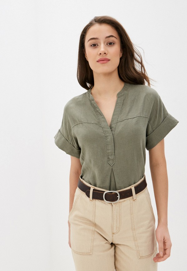 женская блузка marks & spencer, хаки