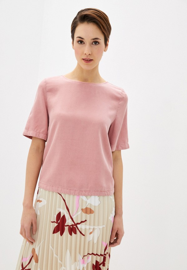 женская блузка marks & spencer, розовая