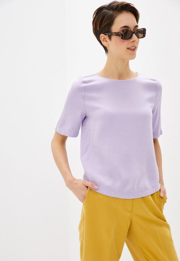 женская блузка marks & spencer, фиолетовая