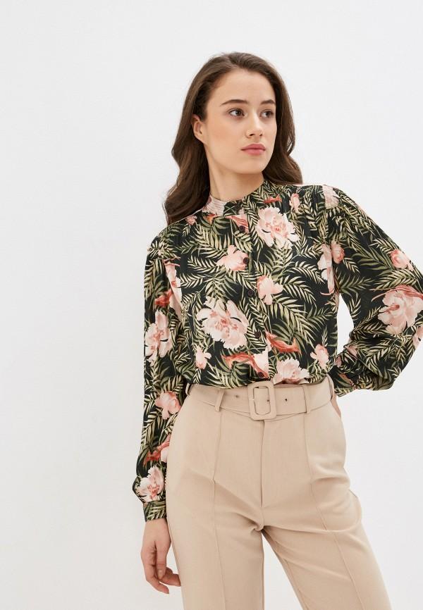 женская блузка marks & spencer, зеленая