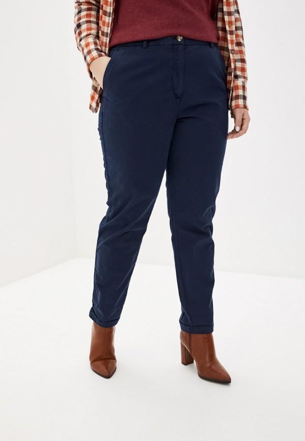 женские зауженные брюки marks & spencer, синие