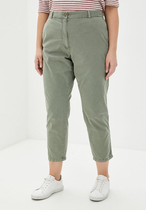 женские прямые брюки marks & spencer, хаки