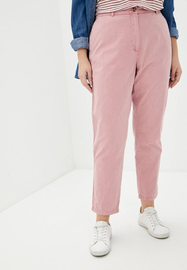 женские прямые брюки marks & spencer, розовые