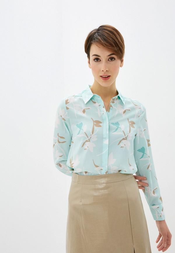 женская блузка marks & spencer, бирюзовая