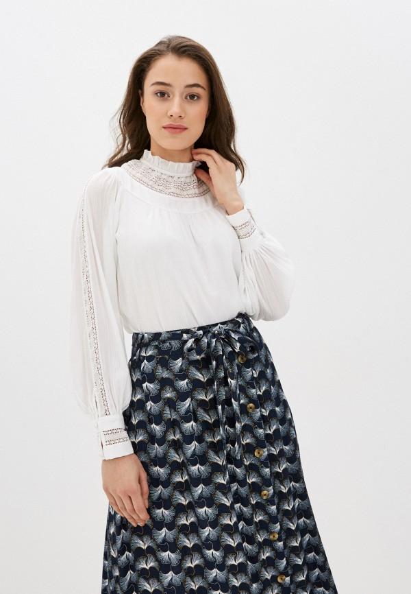 женская блузка marks & spencer, белая