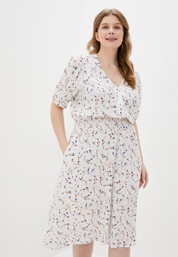 женское повседневные платье marks & spencer, белое