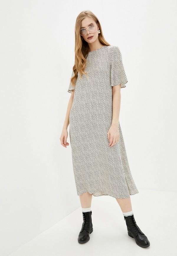 женское повседневные платье marks & spencer, бежевое