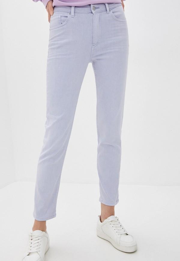 женские прямые брюки marks & spencer, голубые