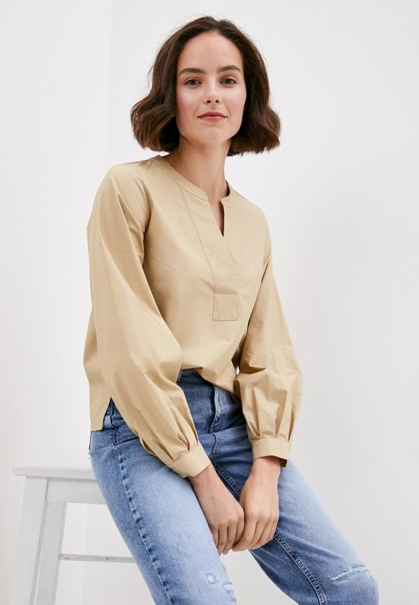 женская блузка marks & spencer, бежевая
