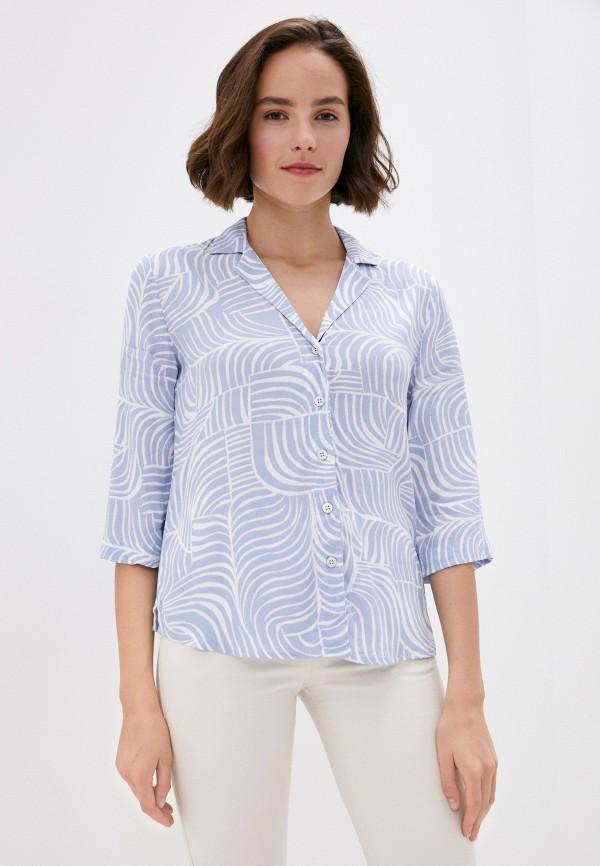 женская блузка marks & spencer, голубая