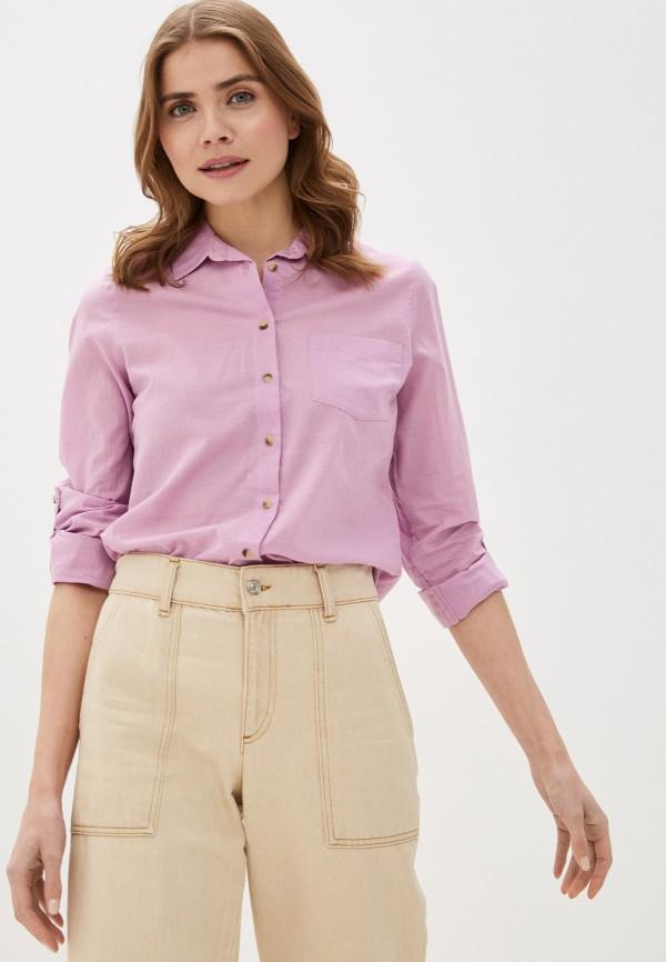 женская рубашка с длинным рукавом marks & spencer, фиолетовая