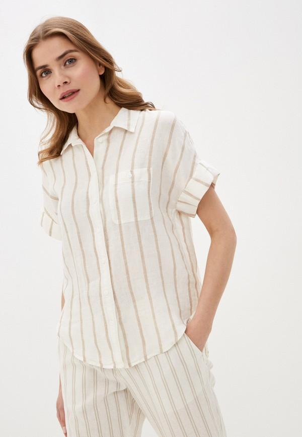 женская рубашка с коротким рукавом marks & spencer, бежевая