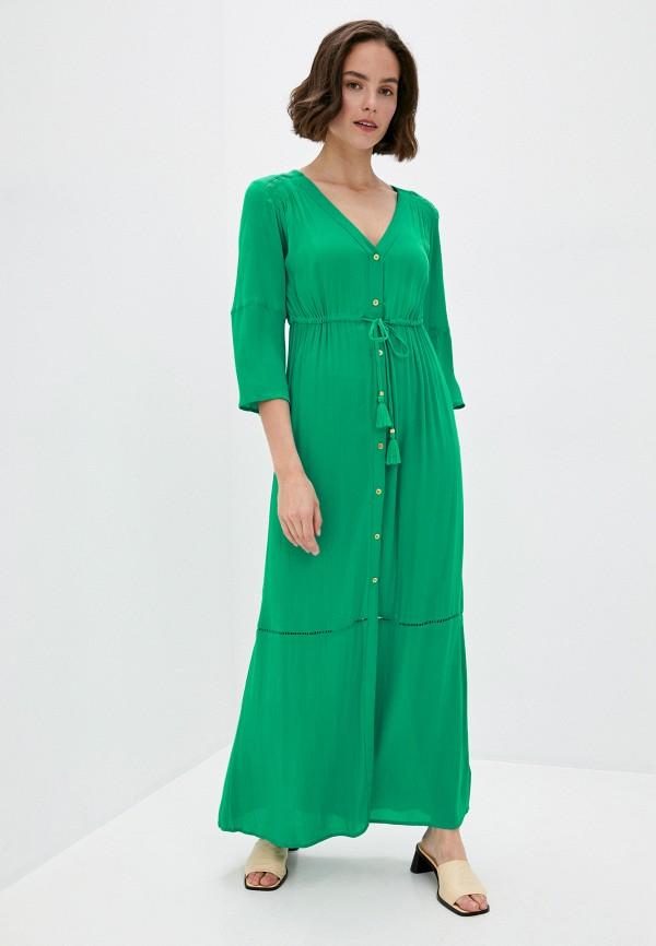 женское платье marks & spencer, зеленое