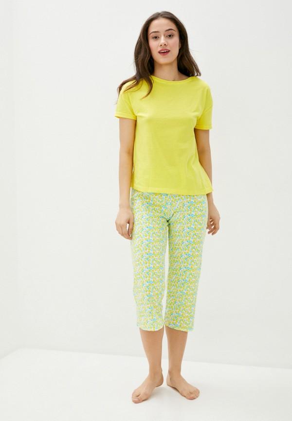 женская пижама marks & spencer, желтая