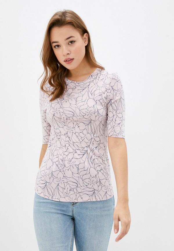 женская футболка marks & spencer, розовая