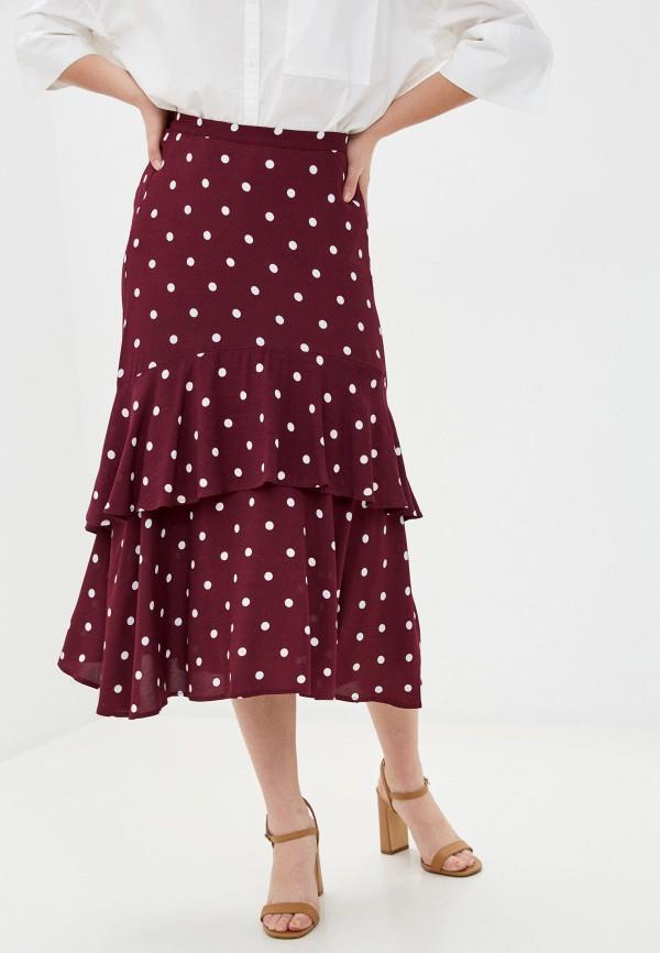 женская юбка marks & spencer, бордовая