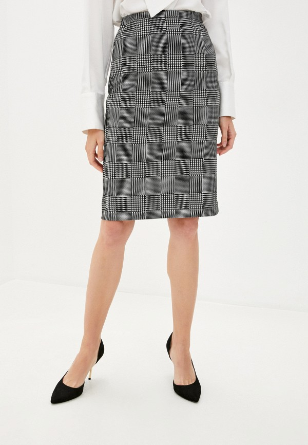 женская зауженные юбка marks & spencer, черная